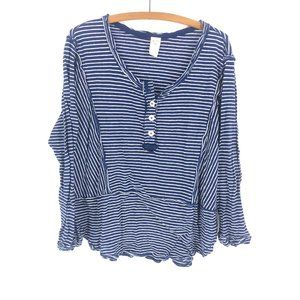 We The Free | Boho Striped Blue Top Sz XS